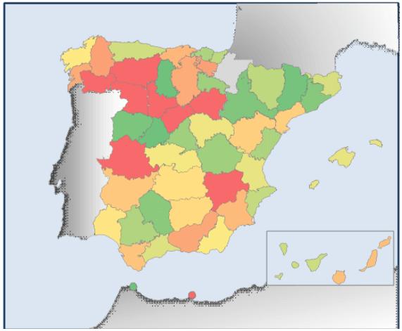 Mapa subvenciones para placas solares por provincias