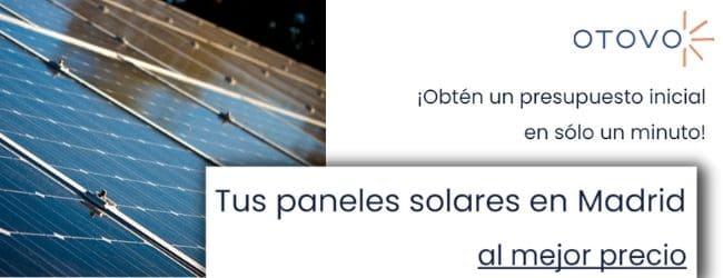 botón obtener presupuesto paneles solares madrid
